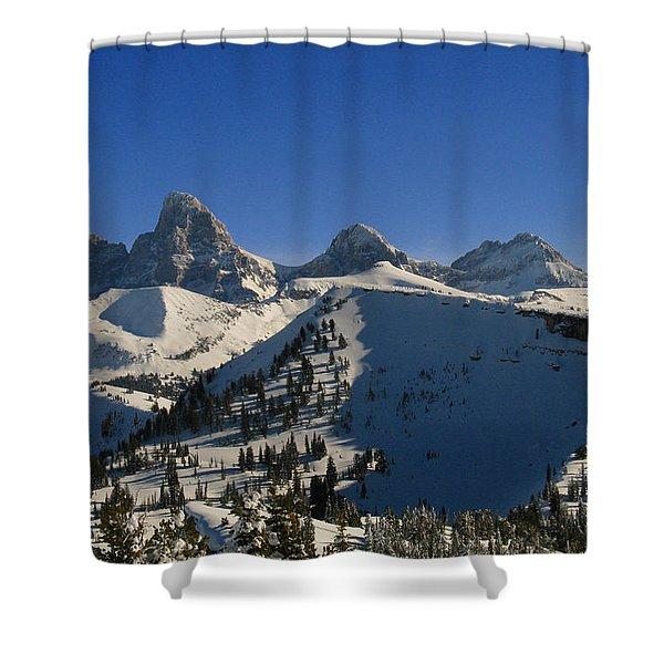 Teton Backcountry Shower Curtain by Raymond Salani III
