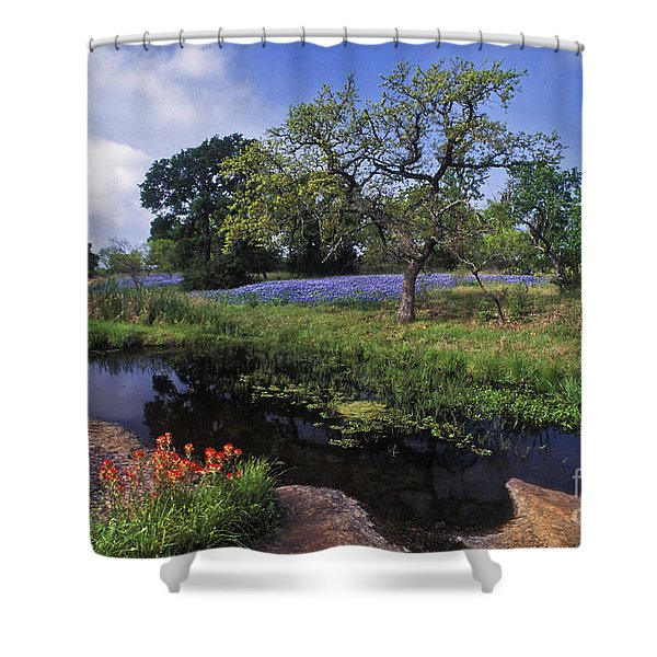 Texas Hill Country - FS000056 Shower Curtain by Daniel Dempster