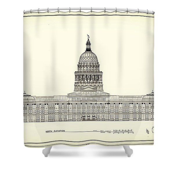 Texas State Capitol Architectural Design Shower Curtain by Mountain Dreams