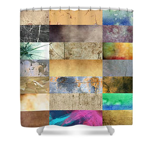 Texture Collage Shower Curtain by Taylan Soyturk