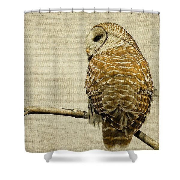 Textured Strix Varia Shower Curtain by Michel Soucy