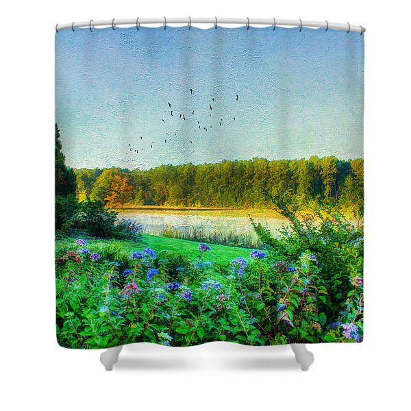 That Early Morning Light Shower Curtain by Darren Fisher