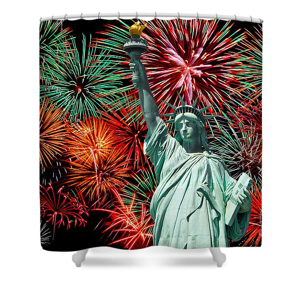 The 4th of July Shower Curtain by Anthony Sacco