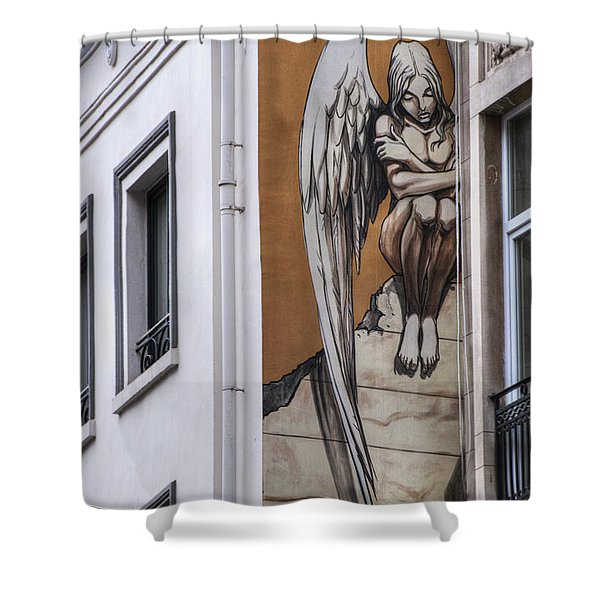 The Angel Shower Curtain by Juli Scalzi