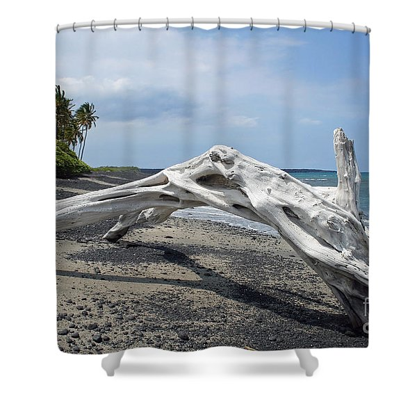 The Bali House View Shower Curtain by Bob Hislop