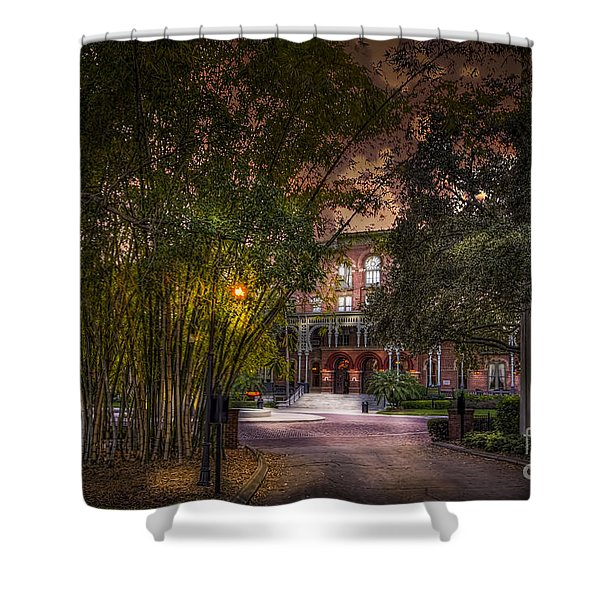 The Bamboo Path Shower Curtain by Marvin Spates