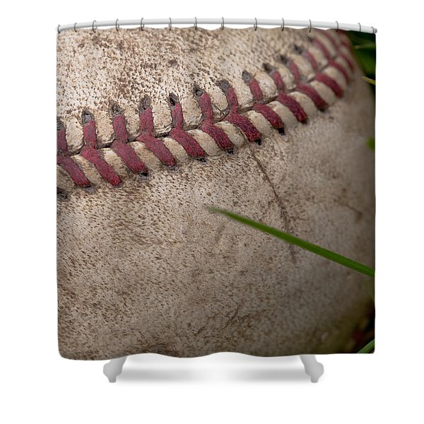 The Baseball Shower Curtain by David Patterson