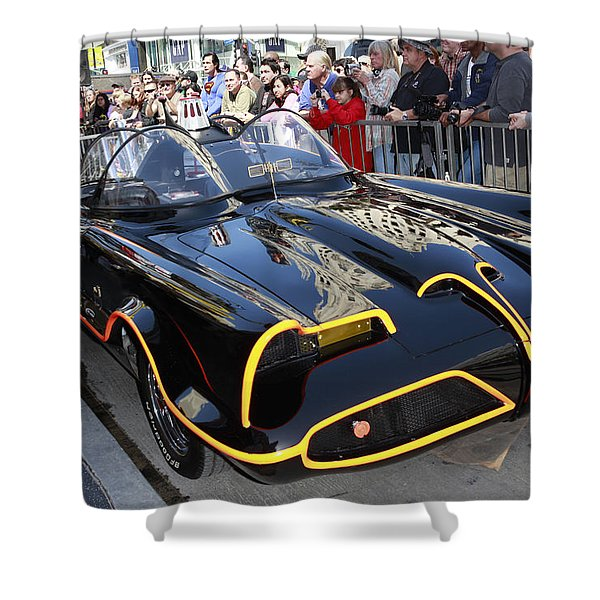 The Batmobile Shower Curtain by Nina Prommer