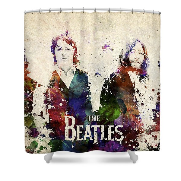 The Beatles Shower Curtain by Aged Pixel