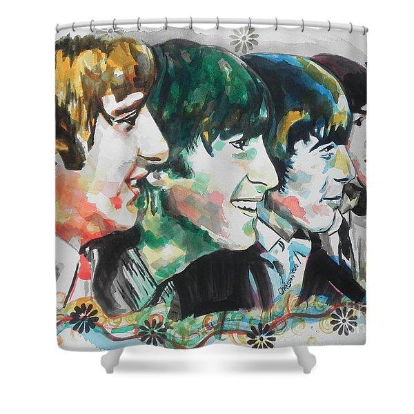 The Beatles 01 Shower Curtain by Chrisann Ellis