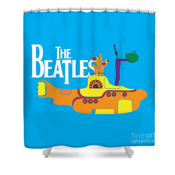 The Beatles No.11 Shower Curtain by Caio Caldas