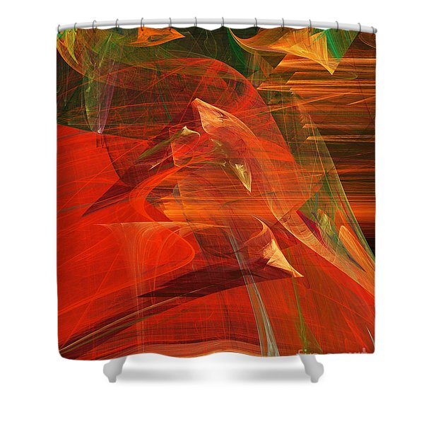 The Bird Whisperer . A120423.693 Shower Curtain by Wingsdomain Art and Photography