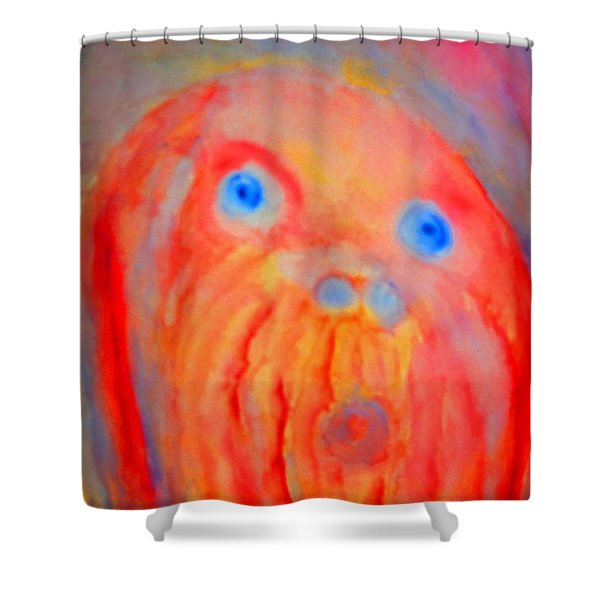 the blue eyed hulder Shower Curtain by Hilde Widerberg