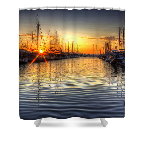 The Brightest Star In The Sky Shower Curtain by Heidi Smith