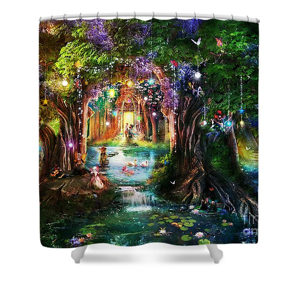 The Butterfly Ball Shower Curtain by Aimee Stewart