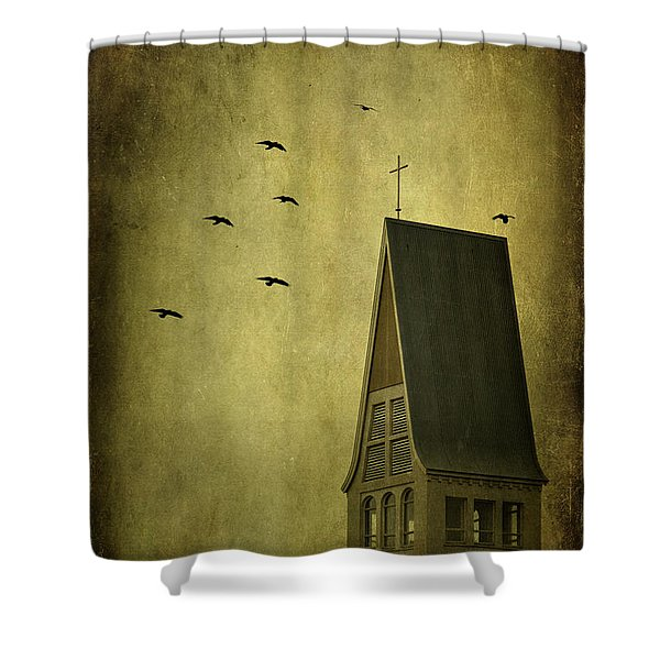 The Calling Shower Curtain by Evelina Kremsdorf