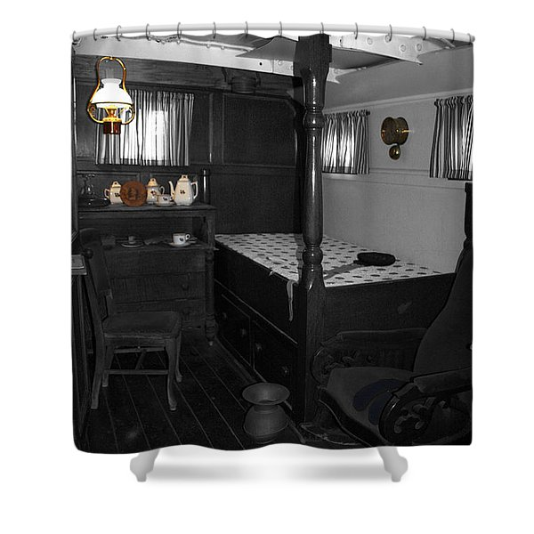 The Captains Quarters Shower Curtain by Cheryl Young