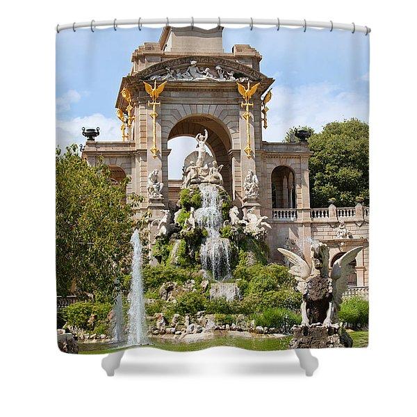 The Cascada in Parc de la Ciutadella in Barcelona Shower Curtain by Artur Bogacki