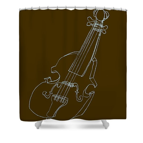 The Cello Shower Curtain by Michelle Calkins