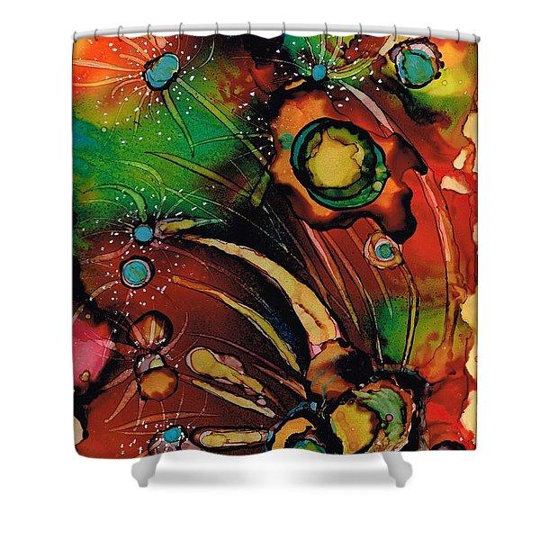 The Colours Of My Mind.. Shower Curtain by Jolanta Anna Karolska