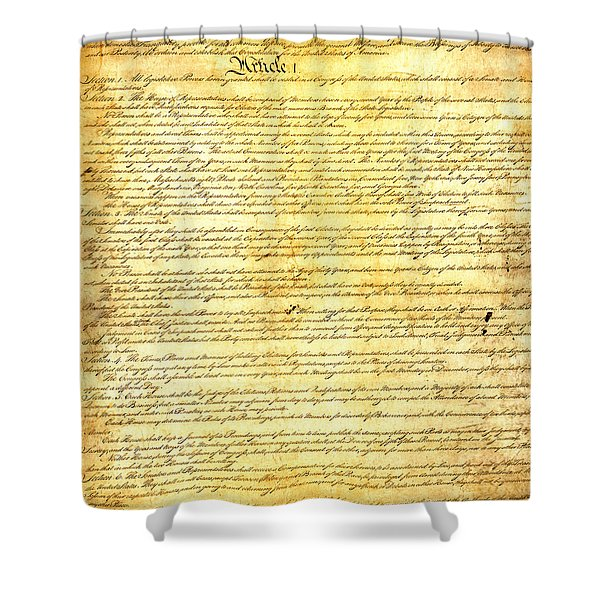 The Constitution of the United States of America Shower Curtain by Design Turnpike