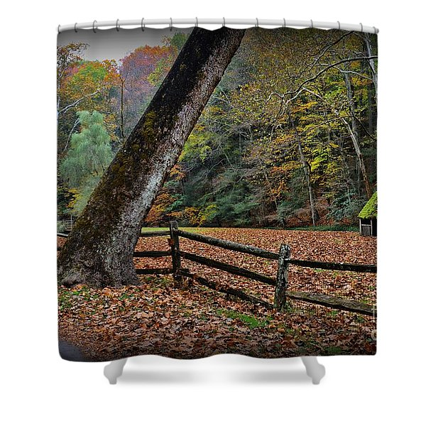 The Country Road Shower Curtain by Paul Ward