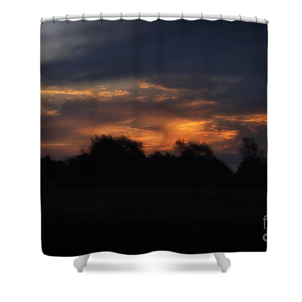 The Crack Of Dawn Shower Curtain by Thomas Woolworth