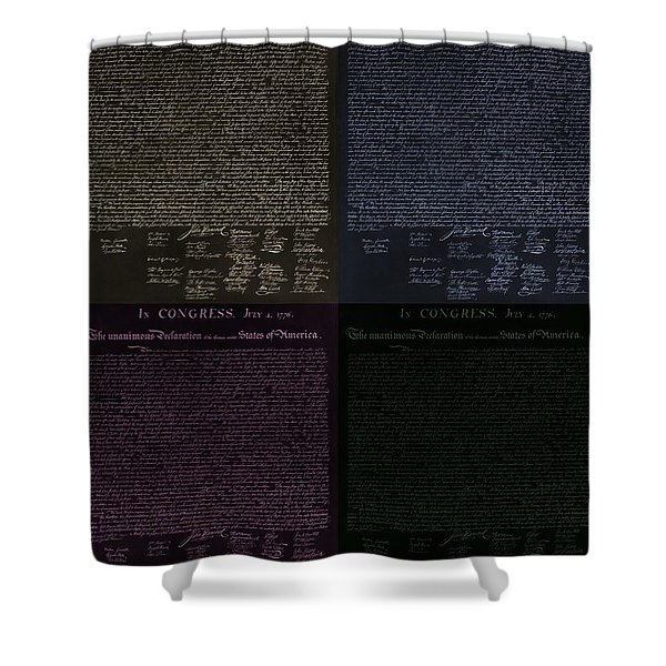 THE DECLARATION OF INDEPENDENCE in NEGATIVE COLORS Shower Curtain by ROB HANS