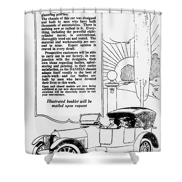 The Distinguished Car Of  1916 Shower Curtain by Daniel Hagerman