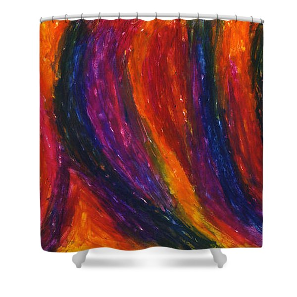 The Divine Fire Shower Curtain by Daina White