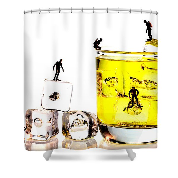 The diving little people on food Shower Curtain by Paul Ge