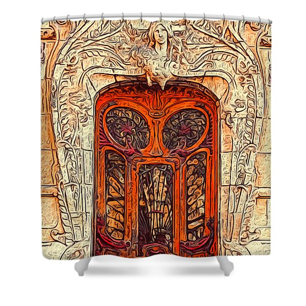 The Door Shower Curtain by Jack Zulli