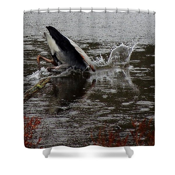 The Dunk Shower Curtain by Mim White