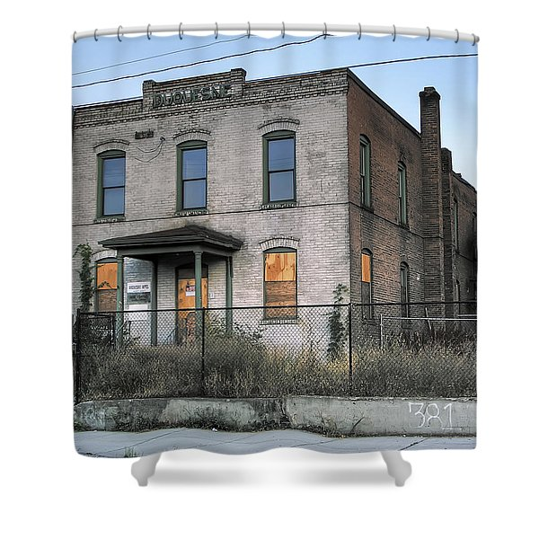 THE DUQUESNE BUILDING - SPOKANE WASHINGTON Shower Curtain by Daniel Hagerman