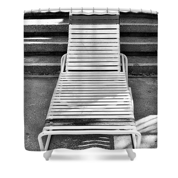 THE EMPTY CHAISE Palm Springs Shower Curtain by William Dey