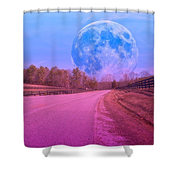 The Evening Begins Shower Curtain by Betsy C  Knapp