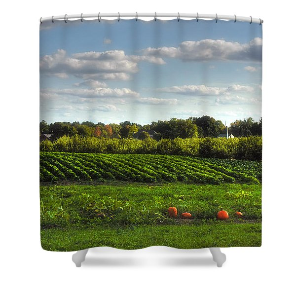 The Farm Shower Curtain by Joann Vitali