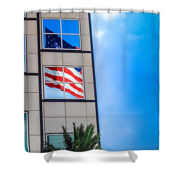 The Flag that Never Hides Shower Curtain by Rene Triay Photography