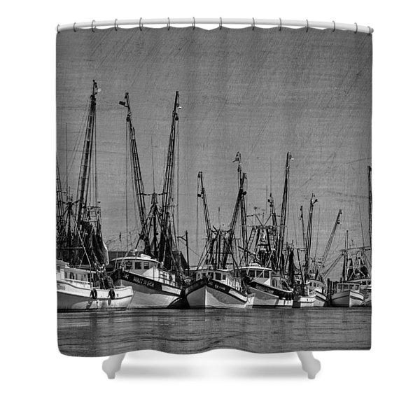 The Fleet Shower Curtain by Debra and Dave Vanderlaan