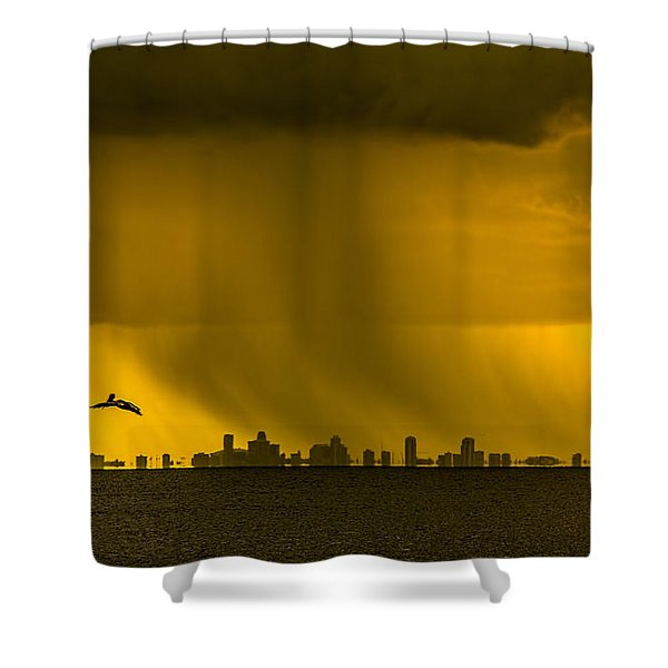 The Floating City  Shower Curtain by Marvin Spates