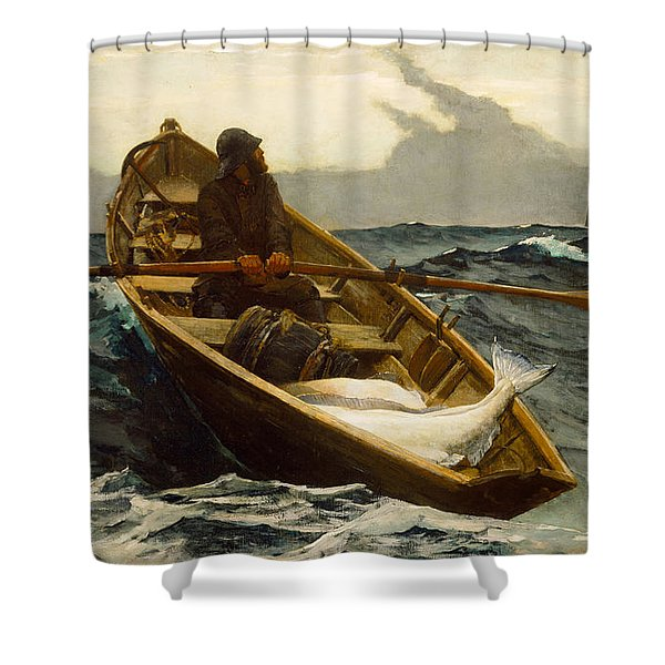 The Fog Warning Shower Curtain by Winslow Homer