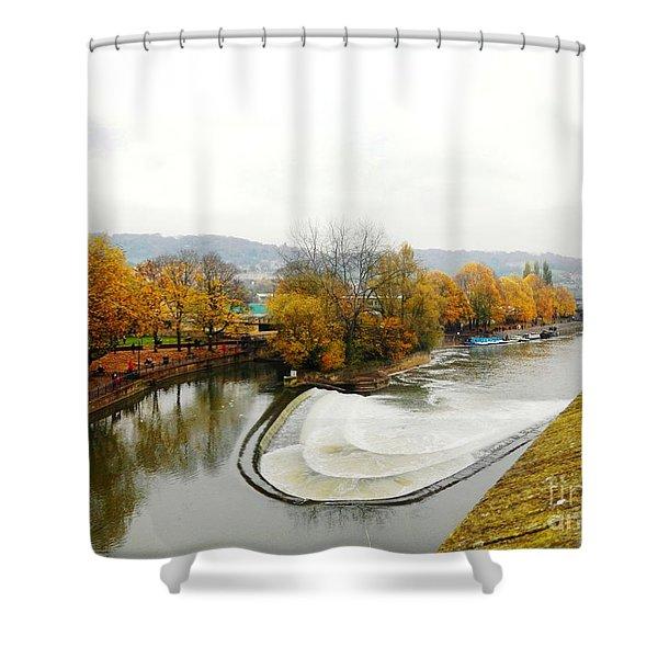 The Foggy Day Shower Curtain by LORETA MICKIENE