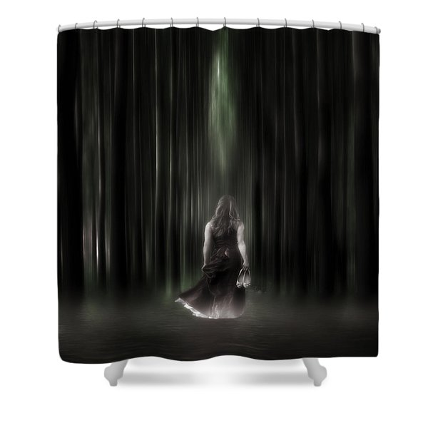 the forest Shower Curtain by Joana Kruse