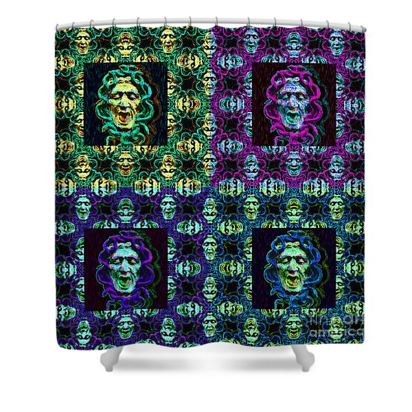 The Four Medusas 20130131 Shower Curtain by Wingsdomain Art and Photography