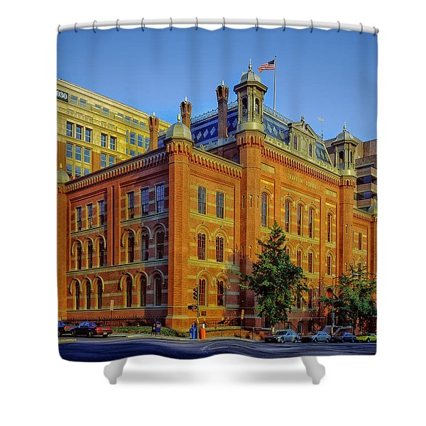 The Franklin School - Washington DC Shower Curtain by Mountain Dreams
