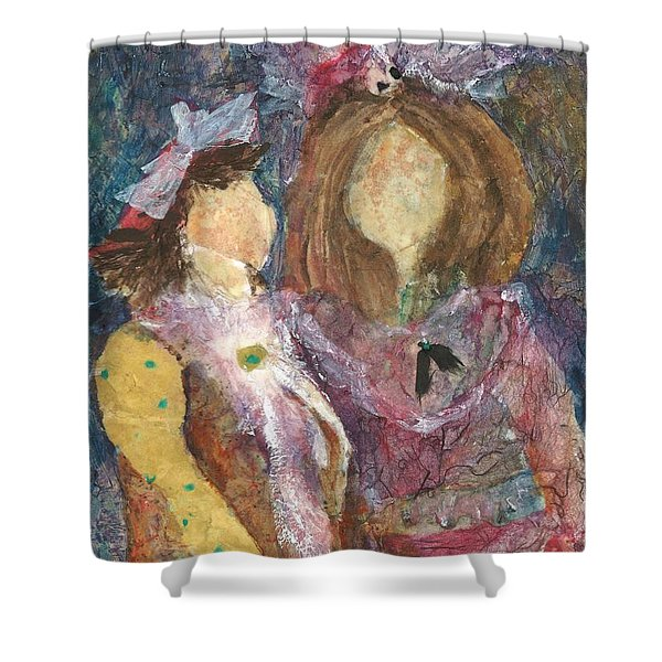 the Girls Shower Curtain by Sherry Harradence