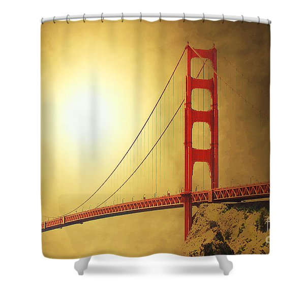 The Golden Gate Shower Curtain by Wingsdomain Art and Photography