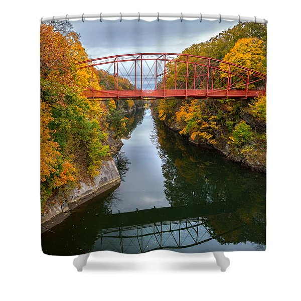 The Gorge Square Shower Curtain by Bill  Wakeley