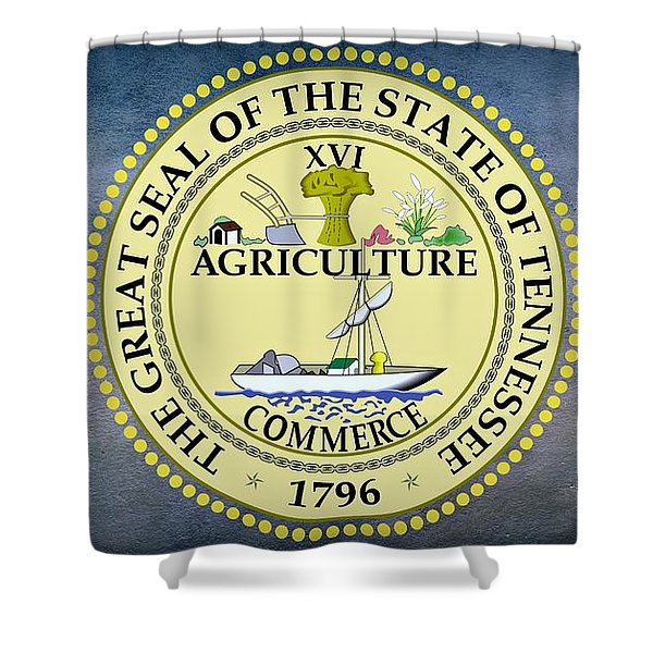 The Great Seal of the State of Tennessee Shower Curtain by Movie Poster Prints