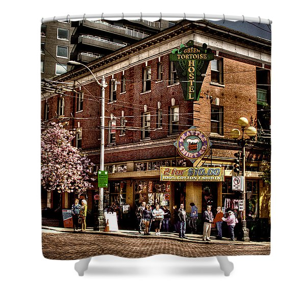 The Green Tortoise Hostel in Seattle Shower Curtain by David Patterson